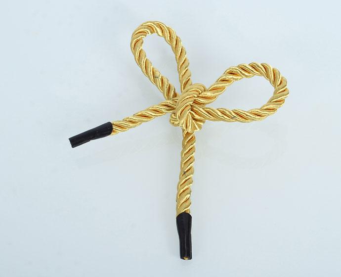 黄色三股绳实拍图